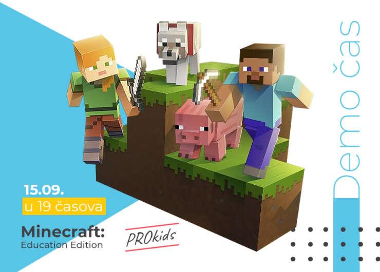Besplatan DEMO čas Minecraft: Education Edition